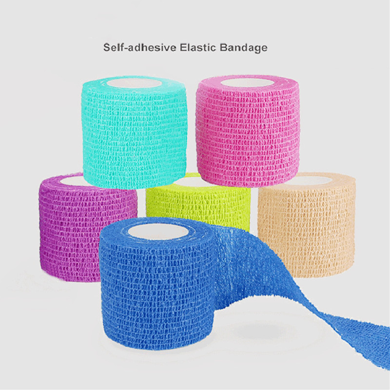 Hot Waterproof Medical Therapy Self Adhesive Bandage Muscle Tape Finger Joints Wrap First Aid Kit Pet Elastic Bandage 4 Colors