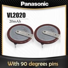 2 pces original panasonic vl2020 2020 3v bateria de lítio recarregável com pernas 90 graus para a tecla do carro remoto temporizador botão célula