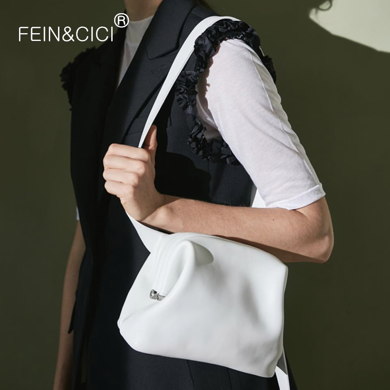 Women Small Messenger Bag Wide Strap Shoulder Bag Retro Vintage Doctor Bag PU Leather Luxury Fashion White Red Handbag 2020 New