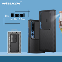 Nillkin capa para xiaomi mi 10, capa deslizante, câmera 6.67 para xiaomi mi 10 pro, capa traseira capa para xiaomi 10 5g