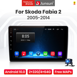 Junsun V1 Pro 4G Android 10.0 4G+64G Car Radio Multimedia Player For VW Skoda Fabia 2 2005-2014 GPS Navigation no 2din dvd