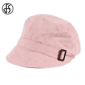 Image 4 - FS Fashion Cotton Sun Hat For Women Summer Outdoor Foldable Beach Hats Blue Pink Dark Gray Wide Brim Casual Visor Caps Femme