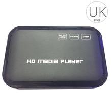 Full HD 1080P Media Player Center Multi Media Video Player HD SD SDHC MMC Cards USB Remote Control