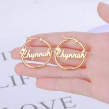 Earring Jewelry Custom Name Personized Stainless-Steel Women New-Fashion Big Teamer Pandent