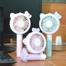 USB mini fan with LED light, foldable rechargeable fan suitable for computer desk, office, crazy street