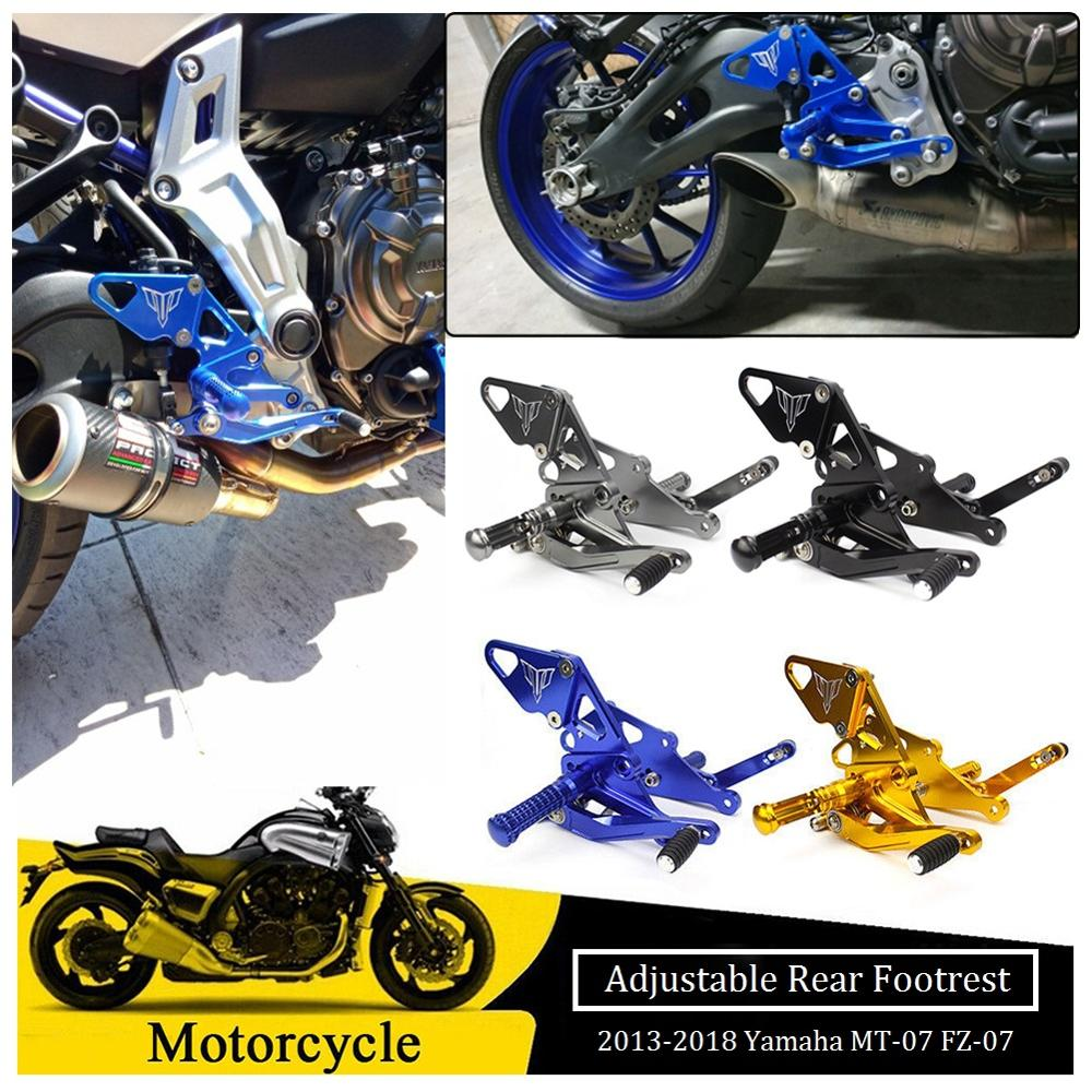 CNC Motorcycle Billet Rearset Rear Set Foot Pegs Pedal Footrest  For 2013-2018 Yamaha MT FZ 07 MT07 FZ07 MT-07 FZ-07 2015 2014