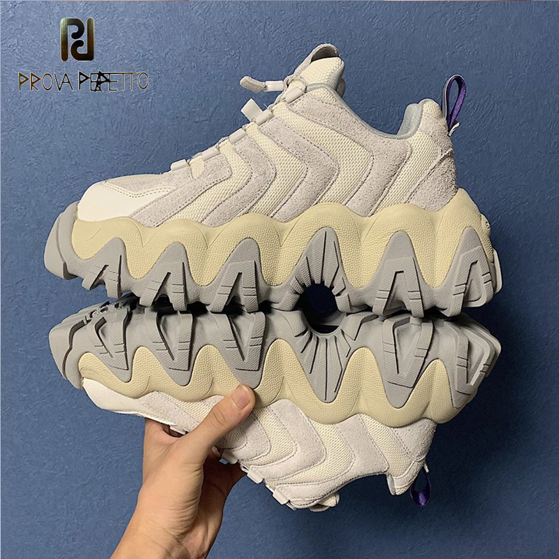 The New 2019 Coconut Shoes Female Torre Sneakers Sawtooth Sponge Thick Bottom Surface Joker  Restoring Ancient Ways Of Shoes