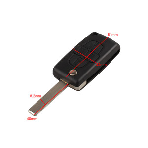 Image 2 - Araba yedek anahtar kabuk 4 düğme çevirme katlanır uzaktan anahtar kutu Fob kapak boş Blade için Peugeot 1007 Citroen C8