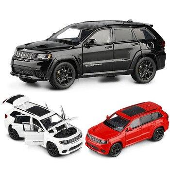 132 Grand Cherokee odlew aluminiowy Model samochodu SUV kolekcje samochody zabawkowe prezent urodzinowy zabawki chłopięce darmowa wysyłka