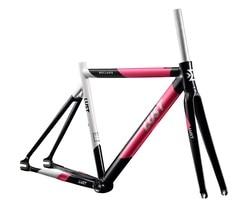 2020 Gigi Tetap Frame Set/AL6066 Cahaya Ekstra Frame Set/Single Kecepatan Jalan Sepeda Frame dengan Karbon Garpu frame Sepeda