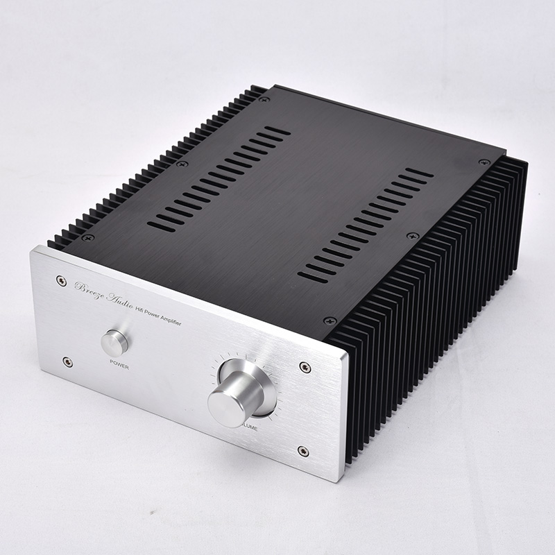 KYYSLB External Heat Sink Type A Power Amplifier Chassis All Aluminum Wire Drawing Process Fine Power Amplifier Housing DIY Case