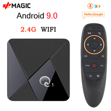Mini Q1 Android 9.0 TV Box Q1 Mini Smart tv box Rockchip RK3328A 2GB 16GB lecteur multimédia Google Play 2.4 WiFi Android TV Box