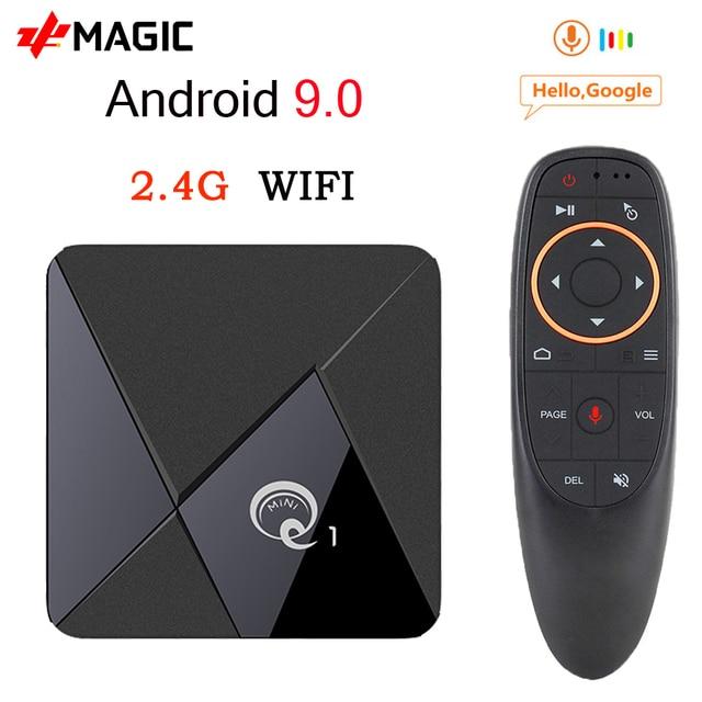 mini Q1 Android 9.0 TV Box Q1 Mini Smart tv box Rockchip RK3328A 2GB 16GB Media Player Google Play 2.4 WiFi Android TV Box