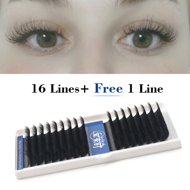 16 Lines B/C/D Curl Eyelash Extension 0.03-0.25mm Individual Mink False Lashes Extension Silk Volume Cilios Dropshipping