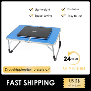 61*41*27 cm Adjustable Portable Laptop Desk Stand For Bed White Computer Table Reading Desk Tray