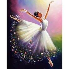 Алмазная 5d картина «балет» с полными квадратными/круглыми стразами