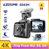 AZDOME Car dvr GPS Parking Monitor Dash Cam 4k Vehicle Rear View Camera GS63H Dual Lens Wifi Night Vision Dashcam 24H Monitor