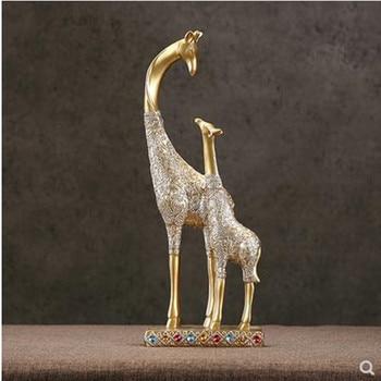 Nordic creative giraffe crafts, home office restaurant bar decoration gifts, animal statue artwork