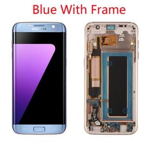 Image 3 - Grade Aaa + + + Originele 5.5 Super Amoled Lcd Met Frame Voor Samsung Galaxy S7 Edge Lcd G935 G935F Touch screen Digitizer Display
