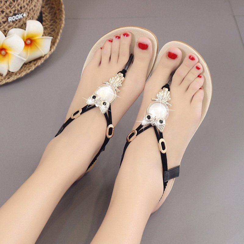 2020 New Summer Sexy Female+shoes Sandals Shoes for Woman Wedges Slippers High Heels Block Stripper Heels Slides Ladies Casual