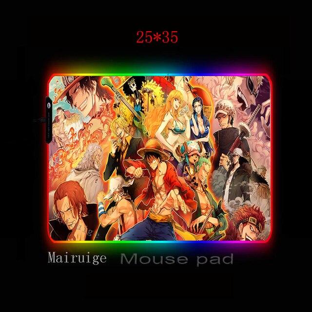 Фото большой коврик для мыши mairuige rgb аниме lockedge цельный цена