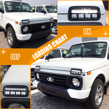 цена на Pair Car Styling Accessories LED Daytime Running Lights relay for Lada Niva 4x4 1995 + with Running Turn Signal Light Lamp DRL
