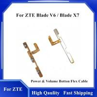 Botón de encendido y APAGADO para ZTE Blade V6 Blade X7, Cable flexible, botón de tecla lateral, Cable flexible, piezas de repuesto para teléfono móvil
