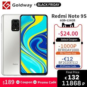 Global Version Xiaomi Redmi Note 9S 6GB RAM 128GB ROM Mobile Phone Snapdragon 720G Octa Core 48MP Quad Camera 6.67