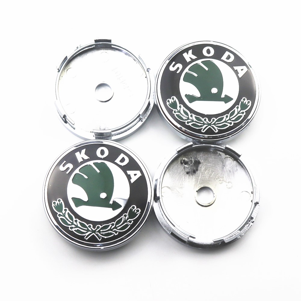 4pcs 60mm Wheel Center Hub Caps Car Emblem Badge Logo Wheel Center Cap For Skoda Octavia Fabia Rapid Superb Octavia A 5 A 7