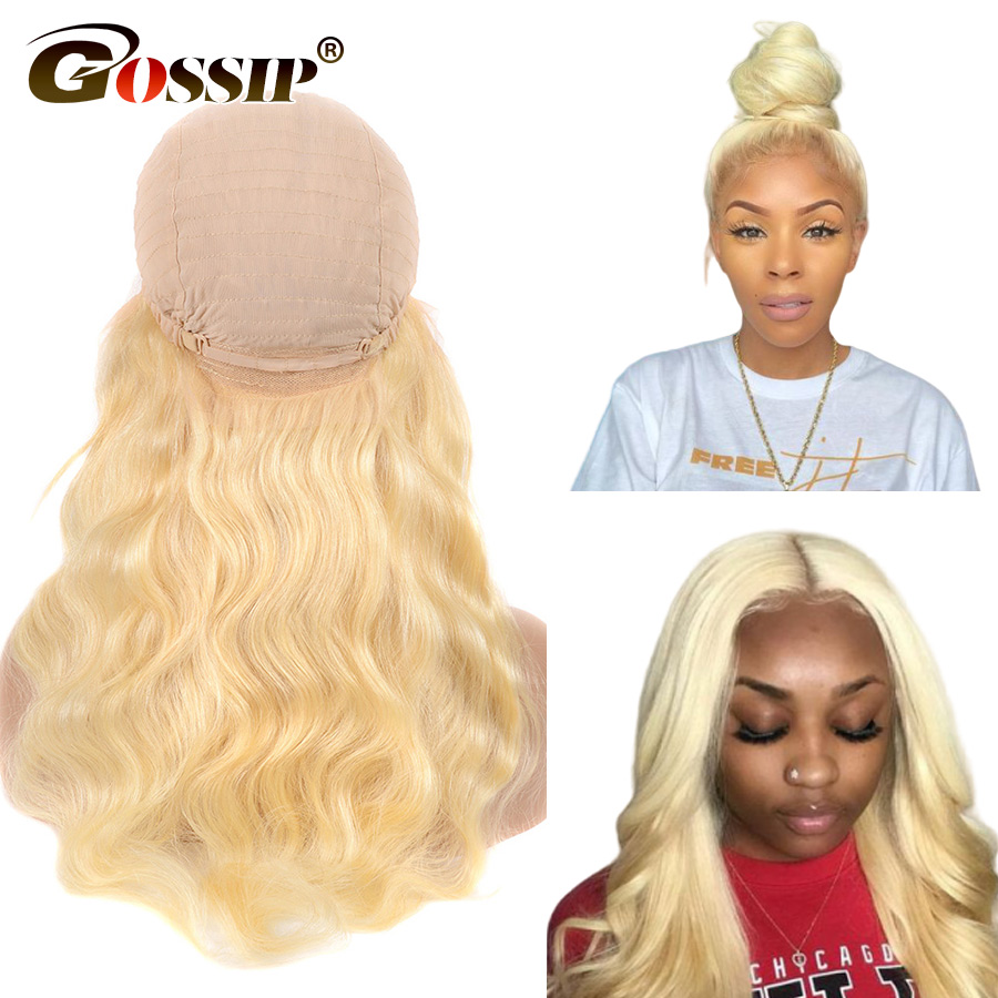 Brazilian Body Wave Lace Front Human Hair Wigs Remy Hair 613 Blonde Lace Front Wig Gossip 150% Lace Front Wig Per Plucked (6)