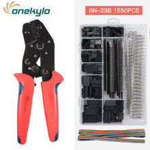 SN-28B for 0.25-1.0mm² Non-insulated Tabs,ATX,EPS,PCIE And SATA Power Pins crimper pliers 1500PCS 2.54mm Dupont crimping tools