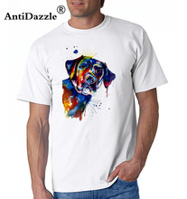 Antidazzle Fashion Streetwear Tops Design Tops Black Lab Labrador Dog Watercolour Art Unisex Mens T Shirt Men T-shirt(China)