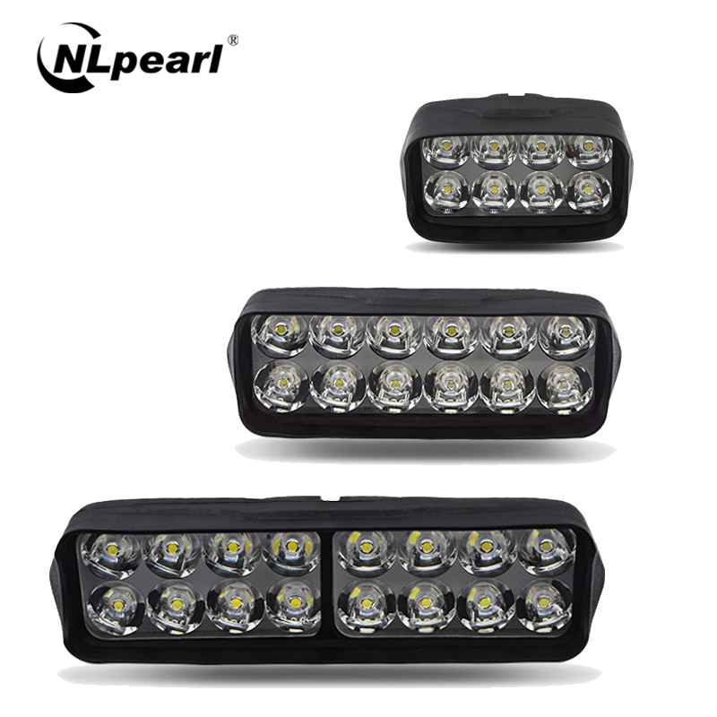 Nlpearl Car Light Assembly 8/12/16SMD Motorcycle LED Headlight 6500K Spotlight Led Fog Light Motorcycle Scooter Head Lamp DRL