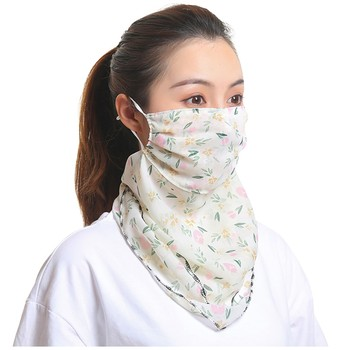 Fashion Women Sun Chiffon Protection Scarf Dustproof Neck Scarf Protective Mask