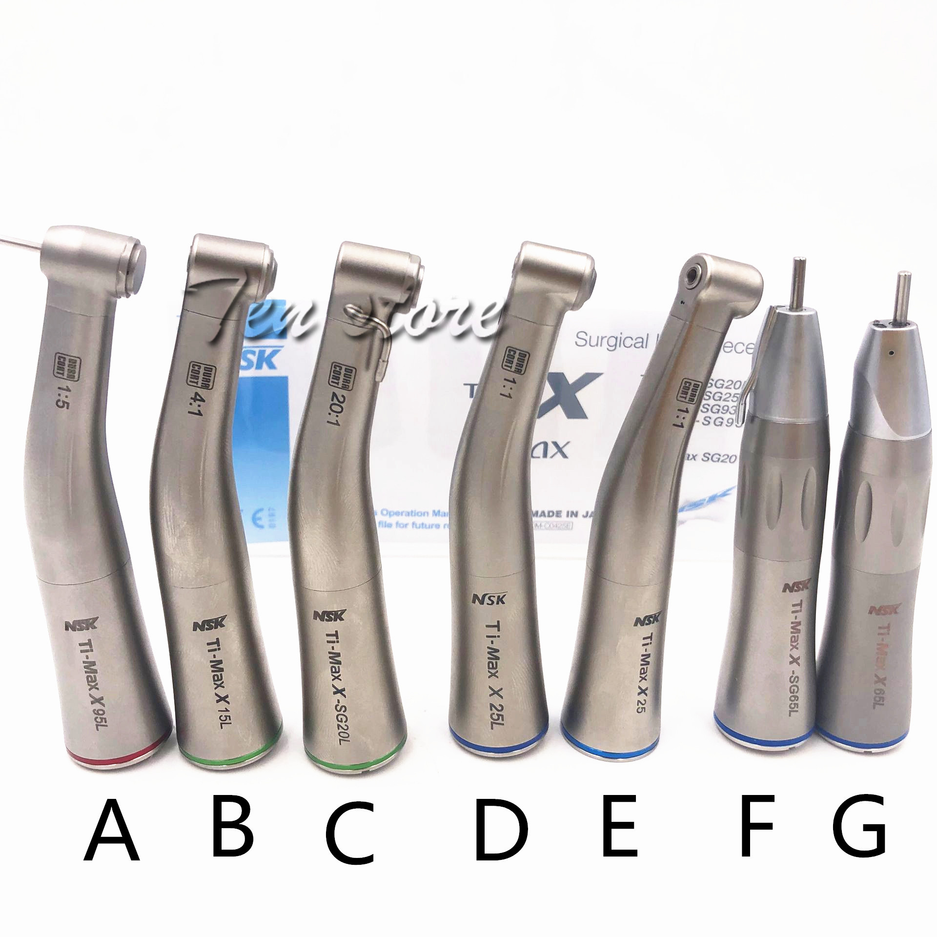 HIGH QUALITY DENTAL NSK TI MAX TYPE Handpiece Against Angle FIBER LED Electric Motor