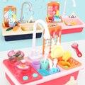 Paly Küche Spielzeug Simulation Elektrische Spülmaschine Waschbecken Lebensmittel Obst Pretend Kochen Schneiden Rolle Spielen Jungen Mädchen Kleinkind Spielzeug