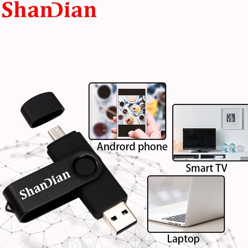 SHANDIAN High Speed USB Flash Drive OTG Pen Drive 128gb 64gb Usb Stick 32gb 256gb Pendrive Flash Disk For Android SmartPhone/PC