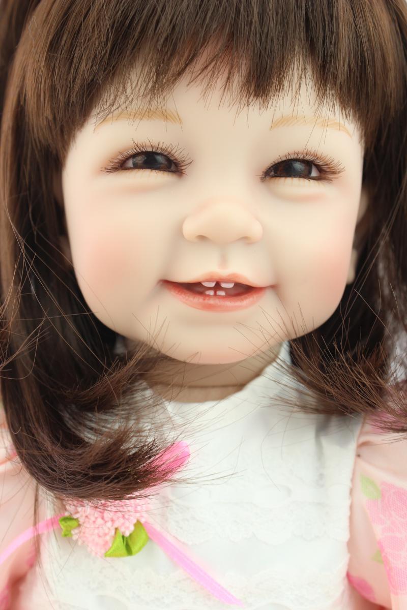 22'' Reborn Baby Girl Doll Lifelike Sillcone Vinyl Handmade Alive Toy Bebe Gift Dolls for Girls Baby Dolls Toddler Boy Toys