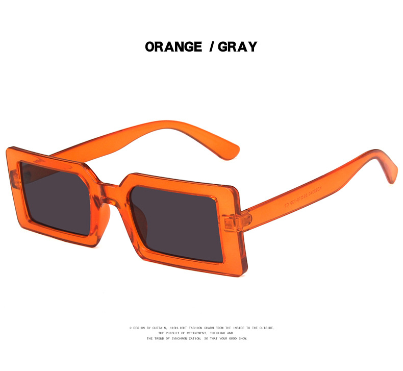 Fashion Sunglasses Designer Luxury Brand Rectangle Sunglasses Women Vintage Small 2021 trend Female Sun Glasses Shades For Women (15)
