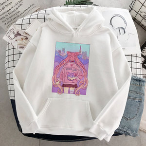 Fashion Women Sweatshirt Sailor Moon Anime Oversized Hoodies Female Pullover Casual Loose Sweatshirts Harajuku Kawaii Hoodies