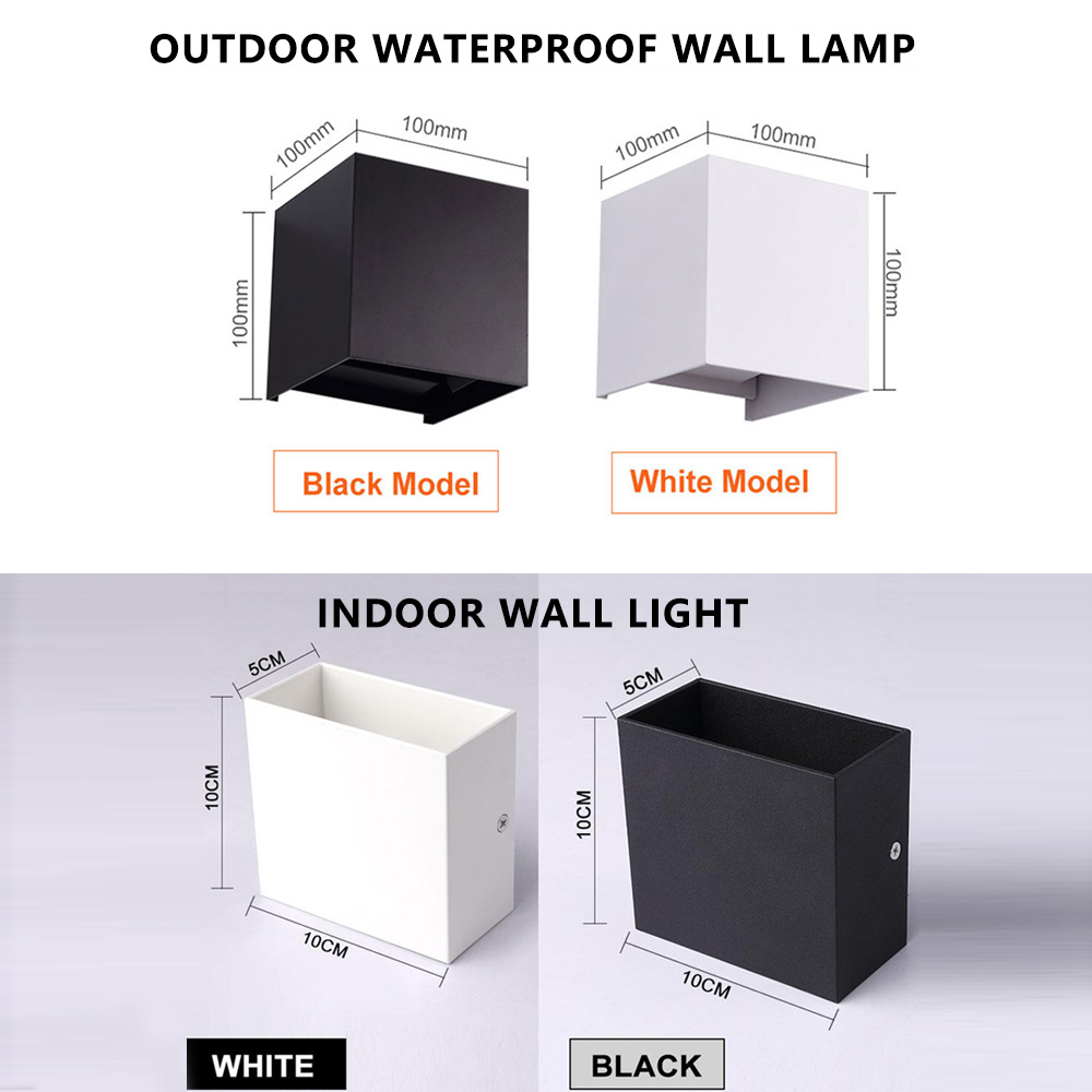 Luz conduzida da parede 6w 12 ip65