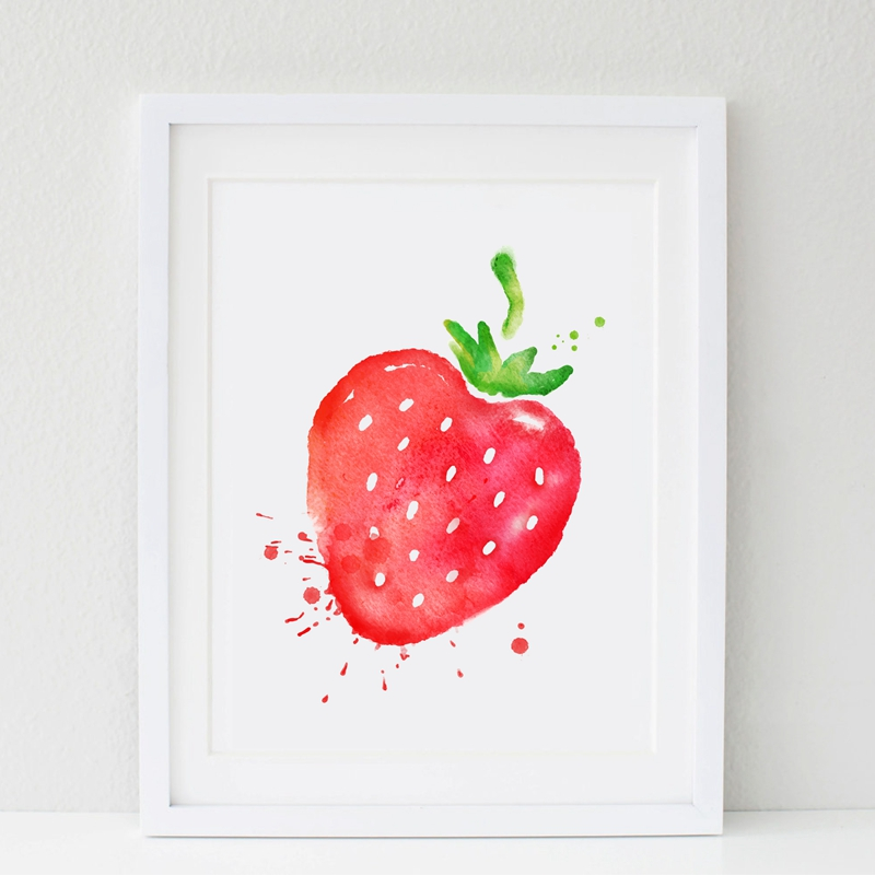 Fruit Strawberry Canvas Print Wall Pictures Home Kitchen Room Fresh Art Painting Poster Decor Calligraphy Aliexpress