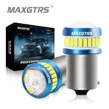 2x BA15S P21W светодиодный лампы S25 1156 7440 W21W T20 4014 3030 чип линзы прожекторного типа для задний фонарь заднего тормоза задний фонарь указатели поворо...