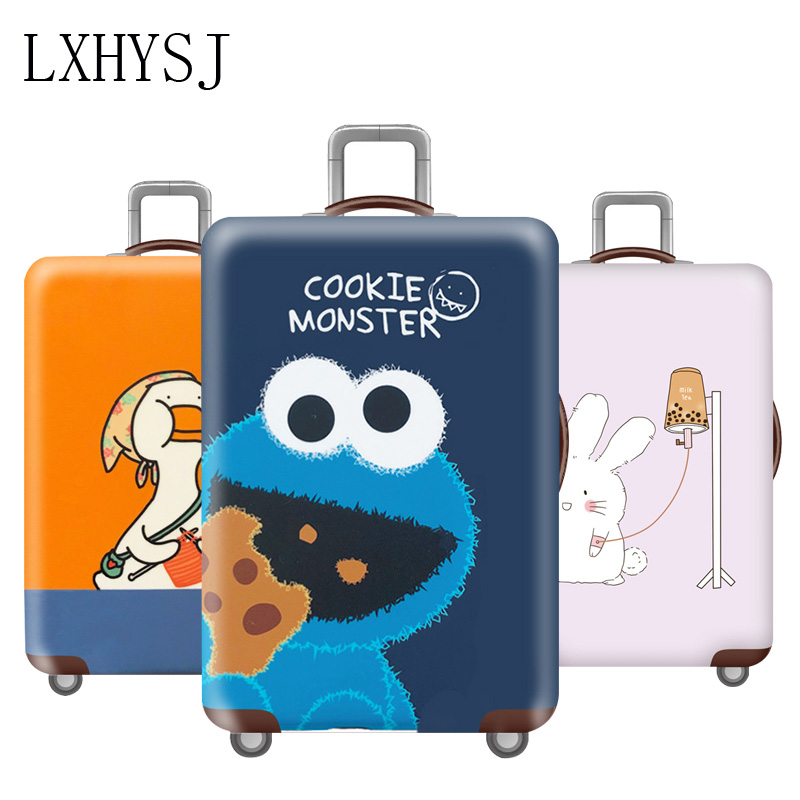 Thicken Luggage Cover Elasticity Luggage Protective Covers Couple Travel Accessories For 18-32 Inch Trolley Case Cover
