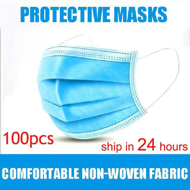 Disposable Face Masks 100 pcs / Set