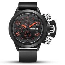 MEGIR Mens watches top brand luxury sports silicone belt waterproof calendar mens wrist watch 2002