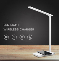 Desk LED Lamp Light Qi Wireless Cell Phone Charger for iPhone 8 X XS Max XR Fast Wireless Charging Pad for Samsung S9 S8 Note 8