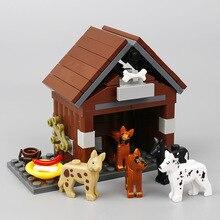 Toys Classic Blocks Moc-Animals House Model Building-Blocks Food-Accessories Family Children