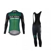 2019 winter fleece pro team caja rural cycling jersey sets warmer long sleeve bike cloth MTB Bicycle Ropa Ciclismo gel pad
