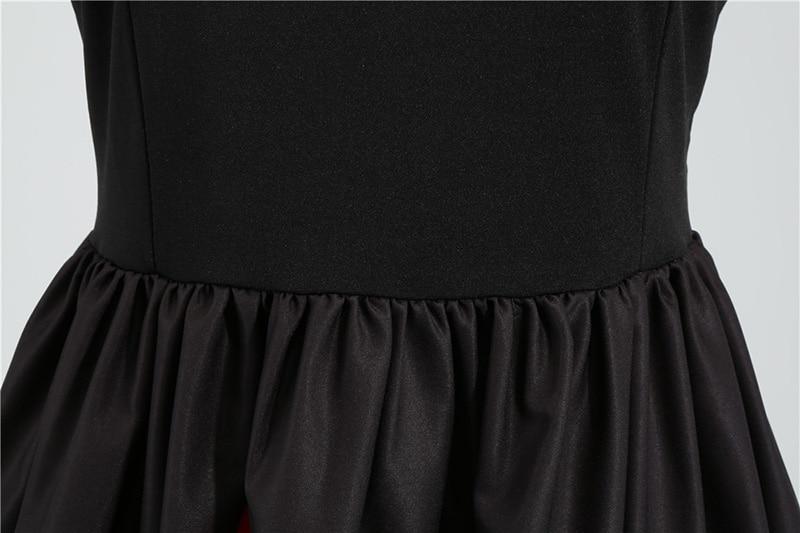 Women Long Sleeve Winter Vintage Dresses Sexy Black Music Note Print V-neck Rockabilly Pin up Party Dress Vestidos Plus size 602